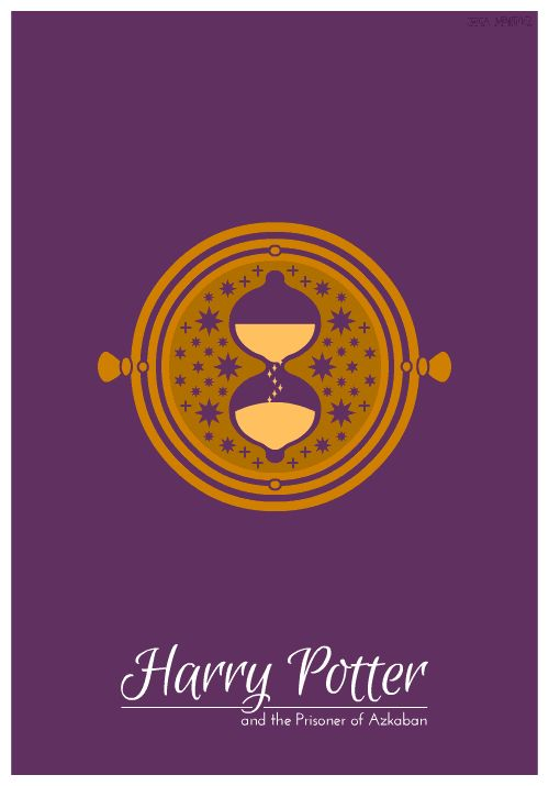 3. Harry Potter and the Prisoner of Azkaban   ----   All image credits: Jessica Martinez. Animated GIFs are not supported in some social networks. You may need to open them in the original post.  7 minimalist Harry Potter animated book covers