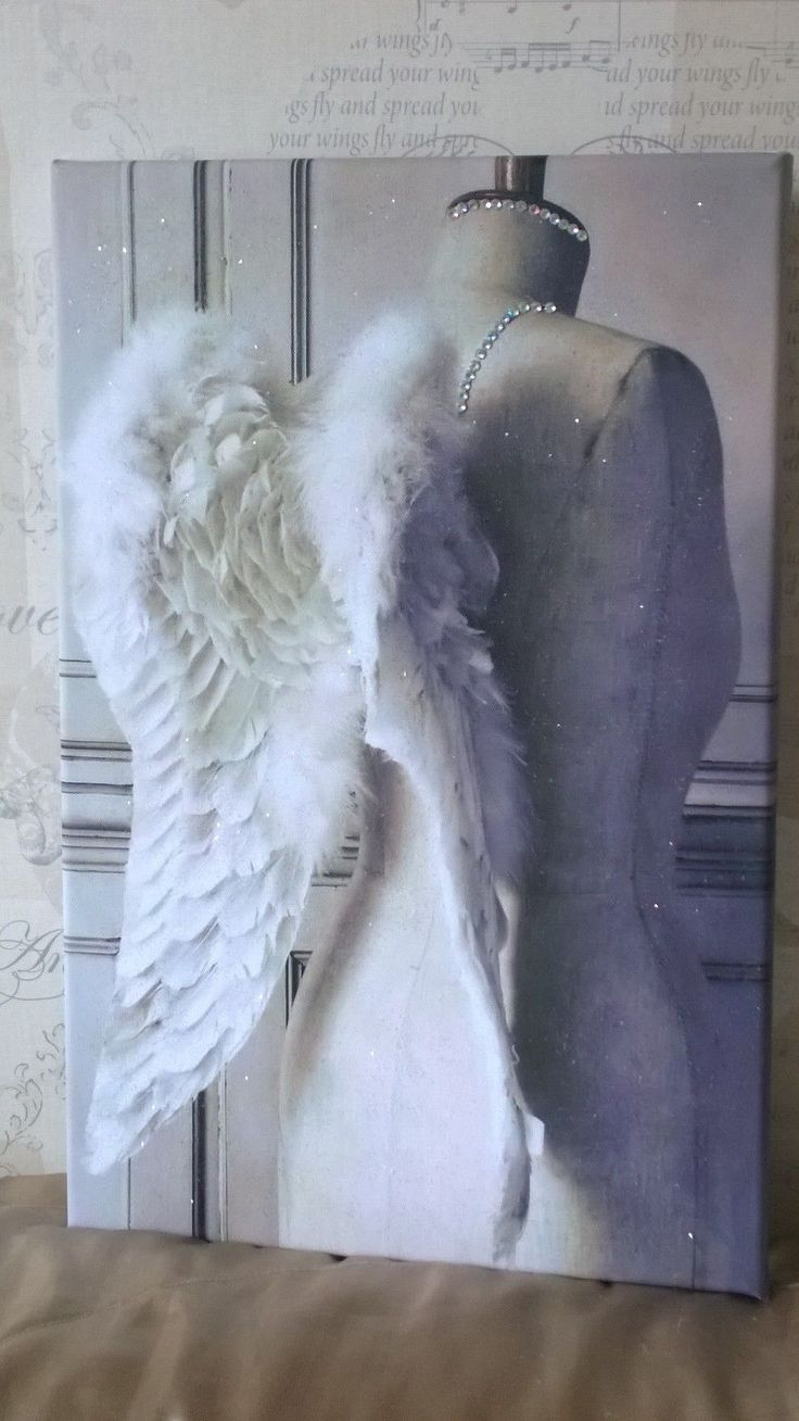 Sparkling White Diamond Dust Angel Wings Canvas Art. Available to buy from my ebay page. w.ebay.co.uk/itm/SPARKLING-PLATINUM-WHITE-ANGEL-WINGS-DIAMOND-DUSTED-CANVAS-ART-51CMS-X-33CMS-/262914836703?hash=item3d36f208df:g:Xc0AAOSwTM5Y25ye