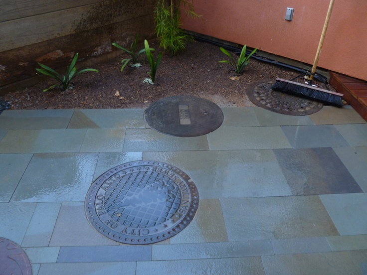Tamate Landscaping Took On The Challenge Of Setting Manhole Covers Into  Blue Stone Pavers, And Created This Incredible Backyard Patio Design.