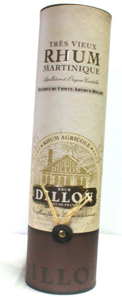 Boîte pour bouteille de très vieux rhum Martinique, Dillon, boite en carton