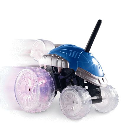 You will love this product from Avon: Spinning Revolution RC Racer 29.99 This awesome stunt car is every little guy's dream (and even many of the bigger guys!). It is remote-controlled and does cool tricks without getting off track, thanks to a unique five-wheel design. It has blinking lights in the wheels, does wheelies, flips and even 360o spins! It's stop-in-your-tracks awesome!
