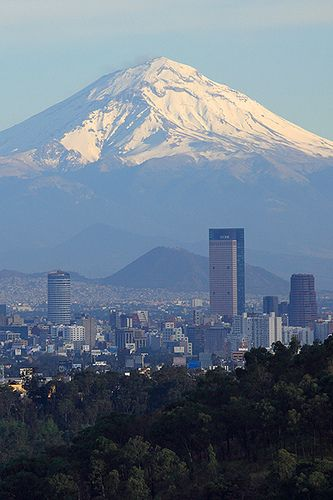Popocatépetl ~ an active volcano and, at, the second highest peak in Mexico after the Pico de Orizaba, in Mexico City