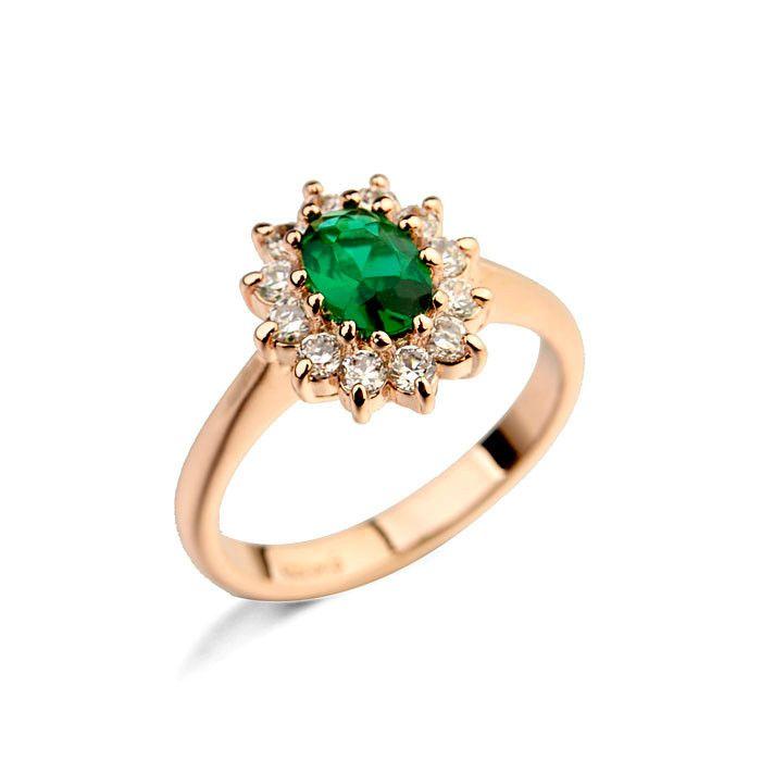 Высокое качество ювелирные изделия изумруд рубин алмаз и сапфир кольцо, мода цветок emeraid кольцо
