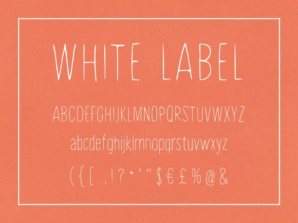 White Label is a font that bridges the gap between the clean look of modern typefaces and the subtle eccentricity of hand-painted lettering.
