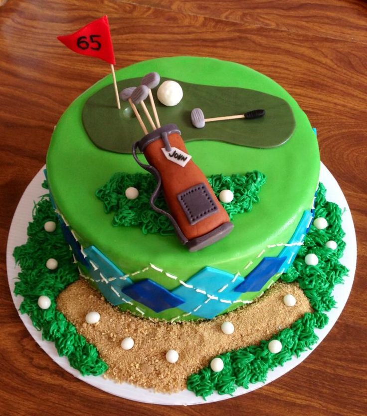 Golf cake, Golfer's cake, Happy 65th Birthday, Guy Birthday