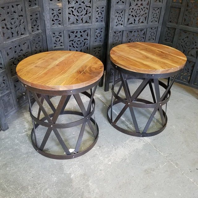 Iron And Wood Side Table Nadeau Philadelphia Side Table Wood