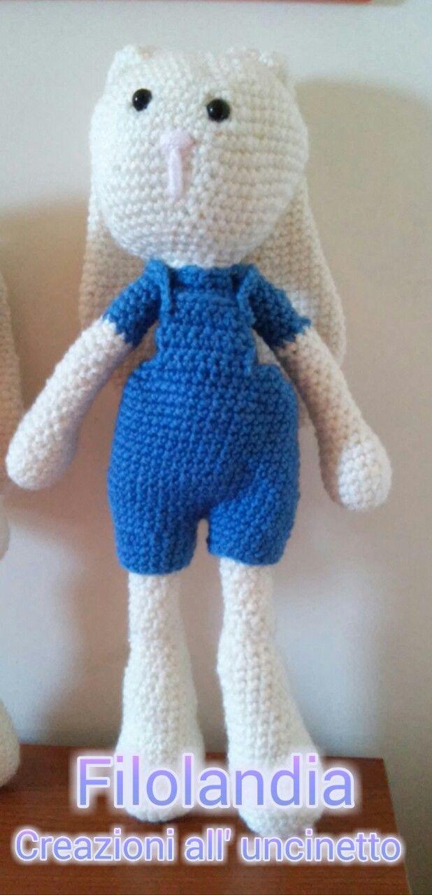 Coniglietto amigurumi #rabbit #coniglio #amigurumi #toy #giocattoli #bimbi #baby #crochet