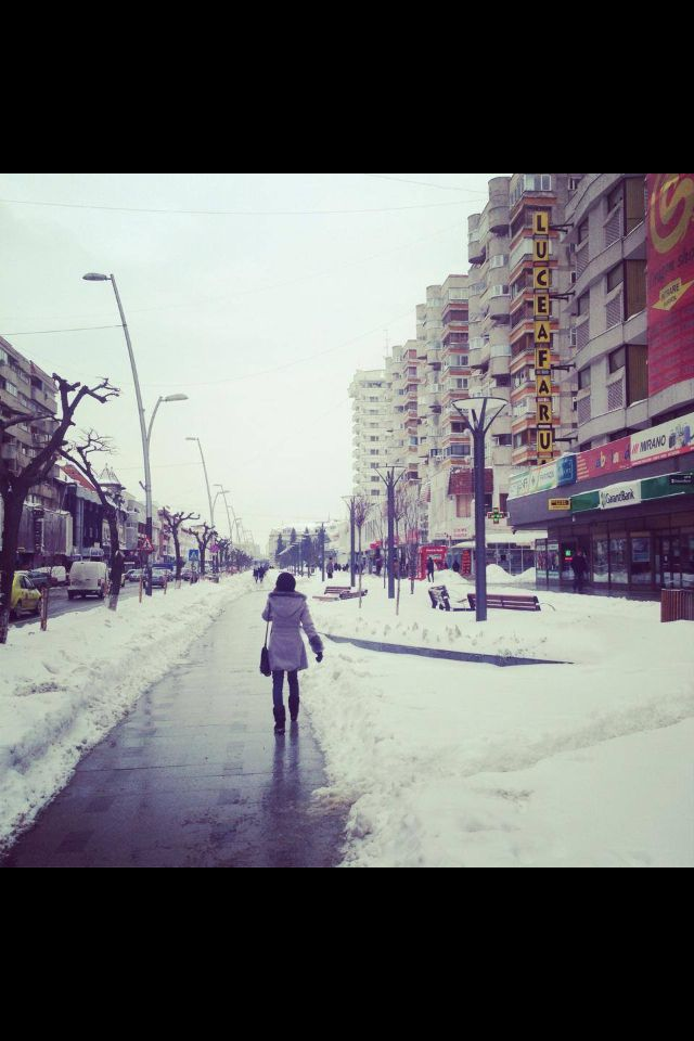 Main street of Bacau, my hometown