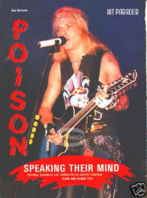 BRET MICHAELS PINUP hair metal 80's 90's POISON