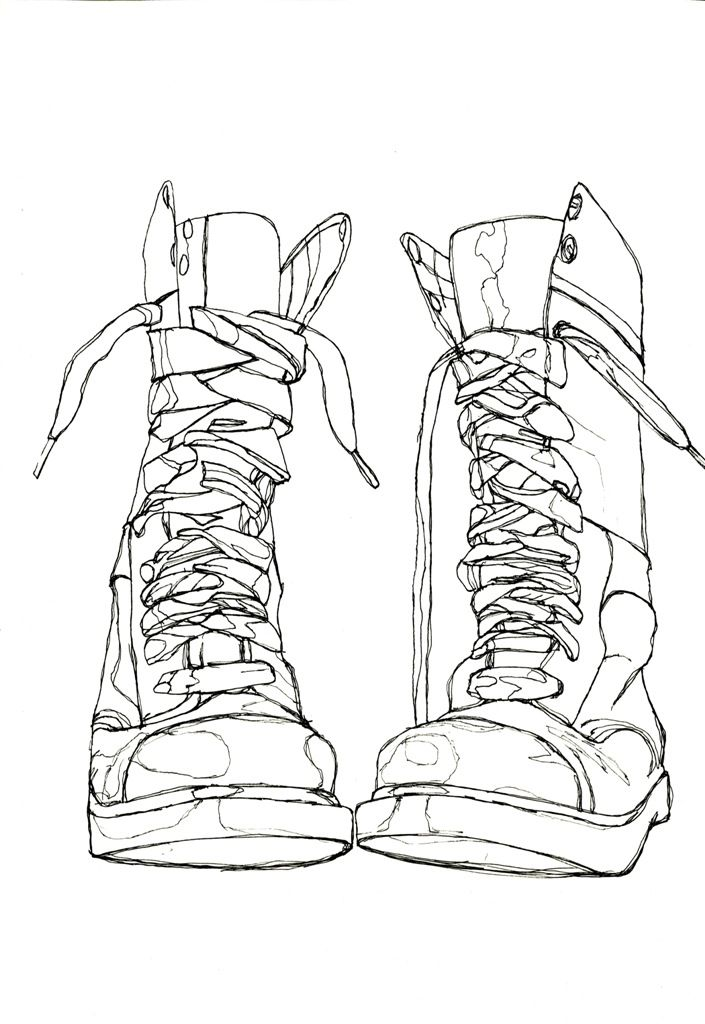 Contour Line Drawing Demo : The best shoe drawing ideas on pinterest