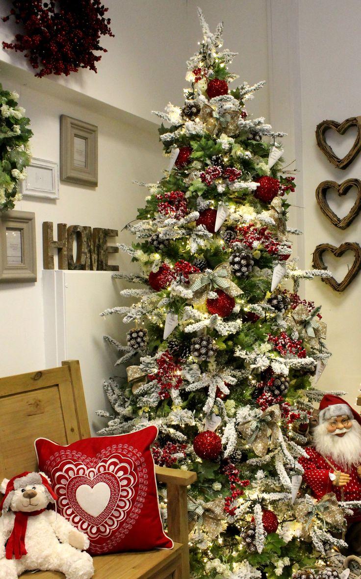 Small Flocked Christmas Tree