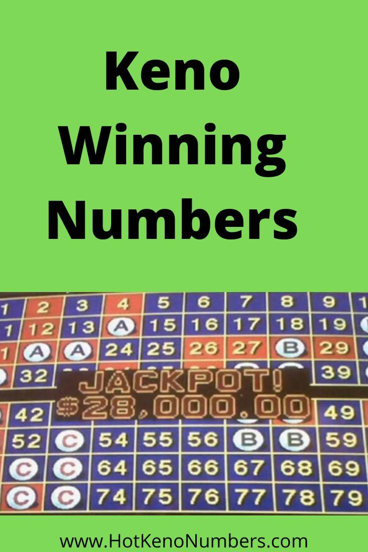 Keno Winning Numbers Ma