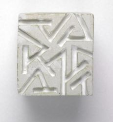 Theo Schoon Plaster stamps for impressing clay. circa 1983
