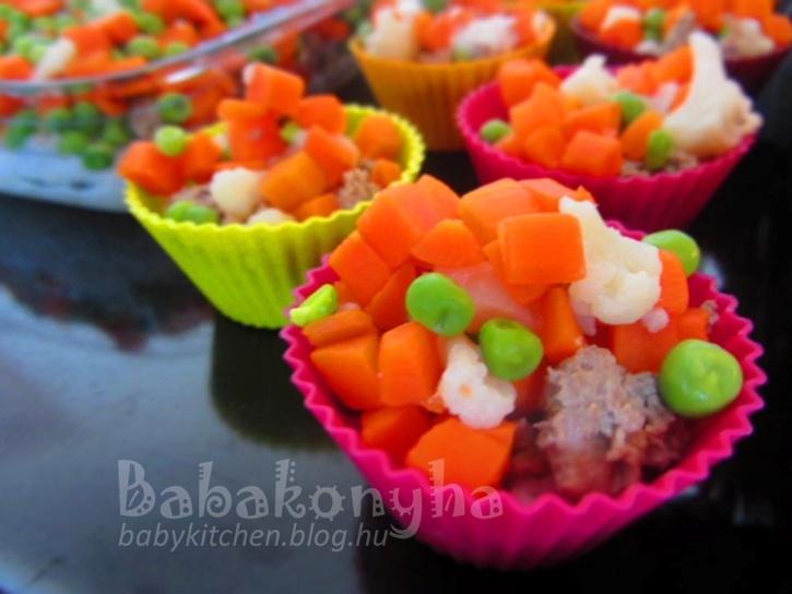 Szép színes rakott muffin by babykitchen.blog.hu