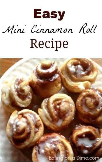 How to Make mini cinnamon rolls using canned biscuits!!