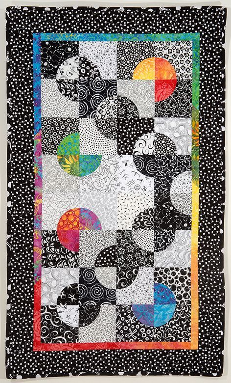 contemporary drunkard's path quilts | Drunkard's Path Variations: Curves Made Modern