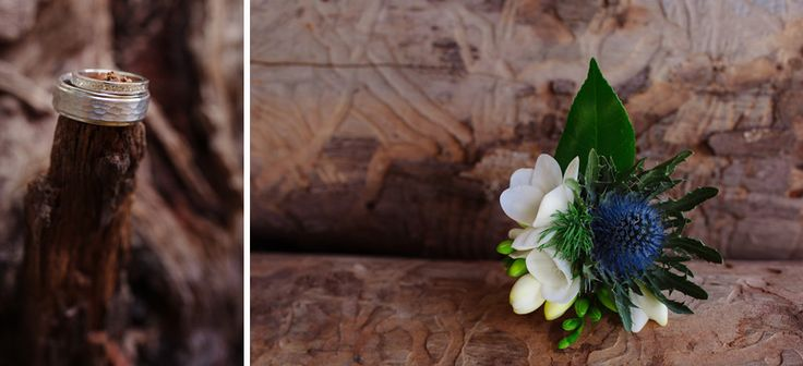 Gorgeous Sea Holly Boutonierre by MacDonalds Florist Swan Hill http://www.macdonaldtheflorist.com.au/