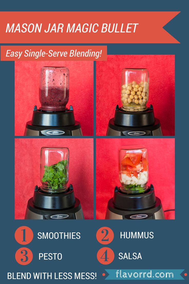 The Mason Jar Magic Bullet: You can make your own single-serve blender with just a simple canning jar!