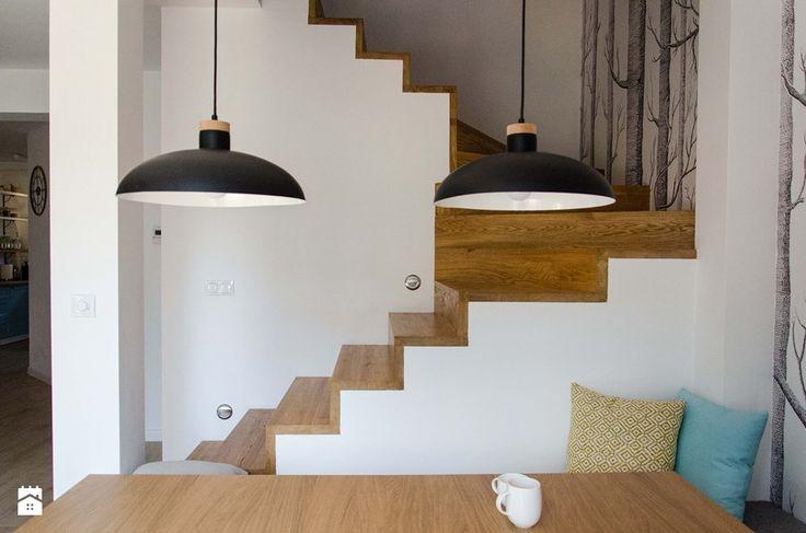 REALIZACJA | spokój pod miastem - Średnie schody, styl skandynawski - zdjęcie od Studio Malina – Architekci & Projektanci wnętrz