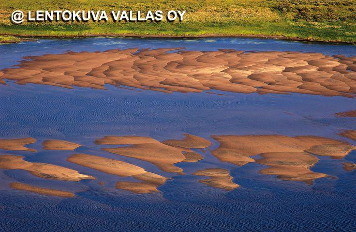 Ylitornio, Tornionjoen hiekkasärkät Ilmakuva: Lentokuva Vallas Oy