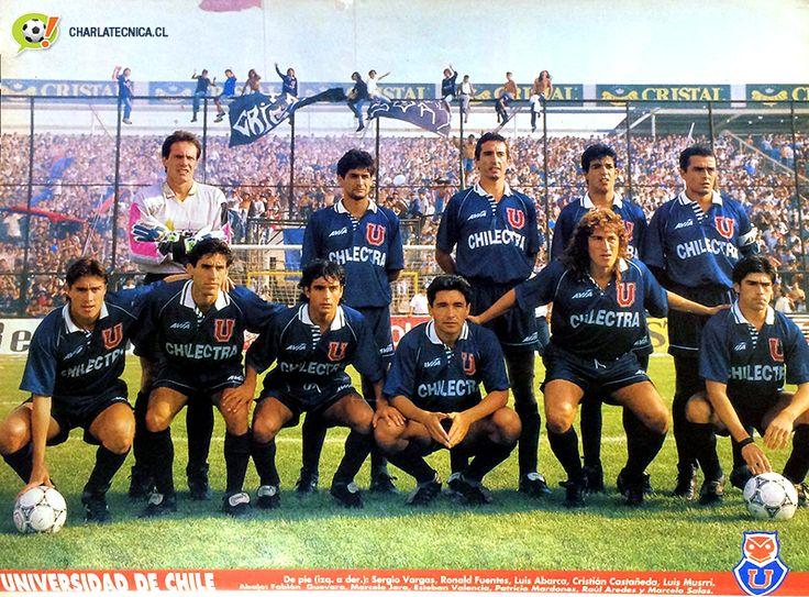 Formacion U.de Chile Copa Chile 1994 ante Colo Colo estadio monumetnal 1-1 gol de Raul Aredes de penal para la U