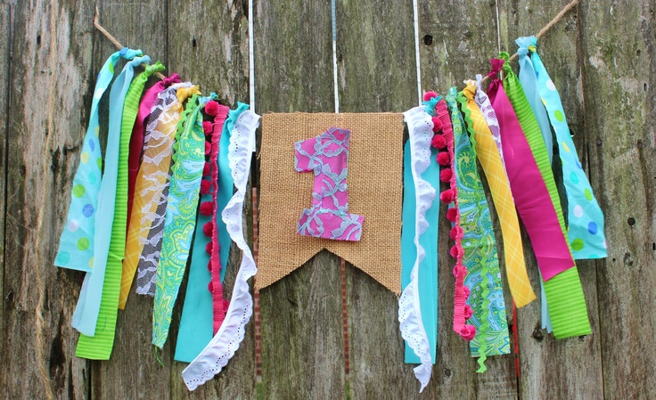 Colorful Birthday Highchair Banner - Number 1. $20.99, via Etsy.
