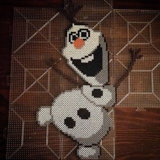 Olaf - Frozen perler beads by dazer24