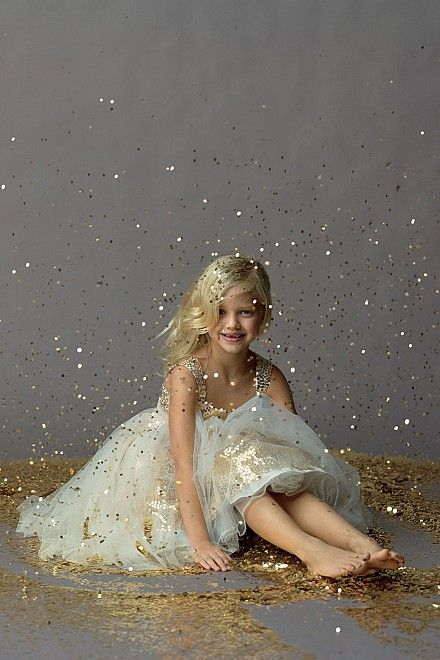 Every little girl should have a picture of them like this! ITS GLITTER