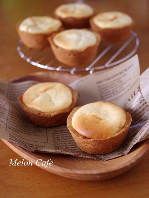 【レシピ】ホットケーキミックスで簡単♪タルトはサクサク、中はふんわり優しい「クリームチーズタルト」☆Suipa.のラッピング材料「プリーツBOX」 : めろんカフェ