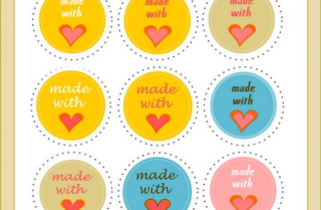 Free printable 'made with love' tags for your handmade products