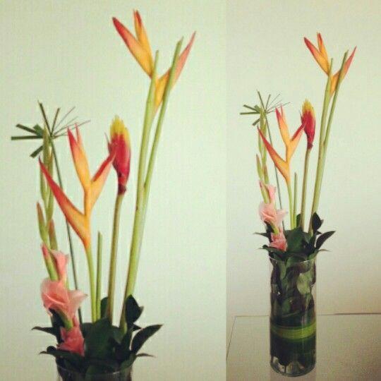 heliconias y gladiolos..decoramos tus espacios tropicalflowers flowerarregement