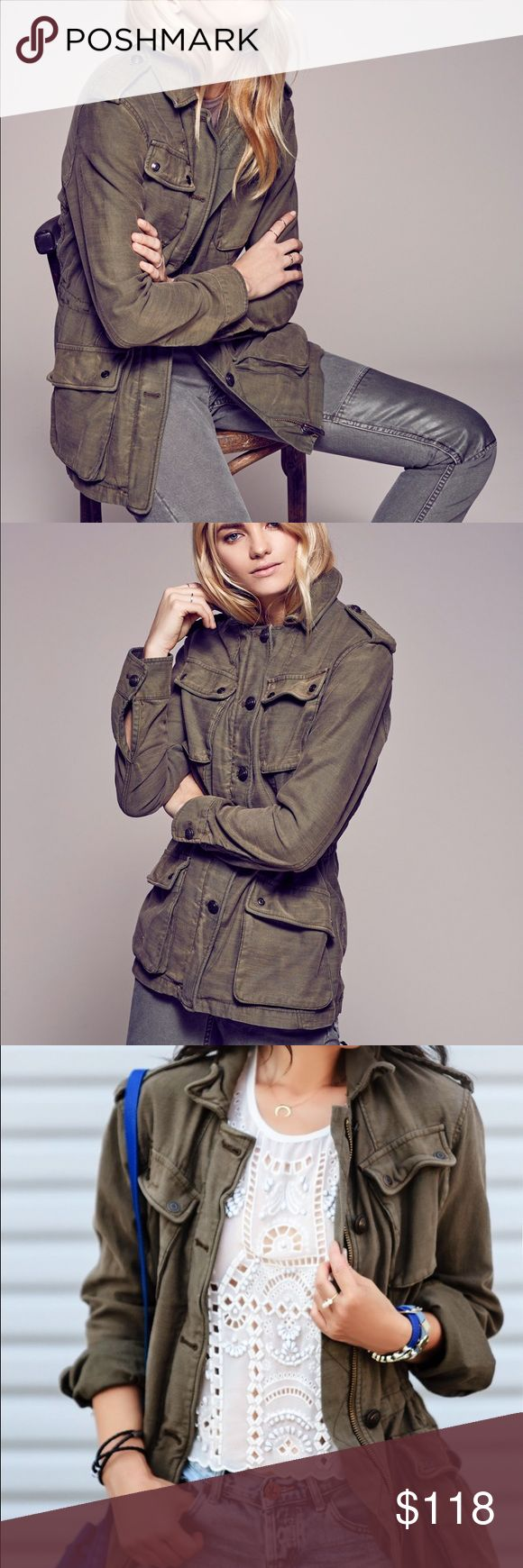 """Free People Not Your Brothers surplus jacket Beautiful """"Not Your Brothers"""" green military style surplus jacket. So gorgeous, but I just have too many of these! Worn once, in EUC, no flaws. Free People Jackets & Coats Utility Jackets"""