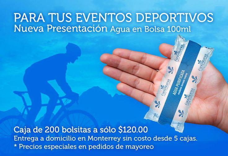 Agua Purificada en Bolsas para eventos deportivos, escolares, etc