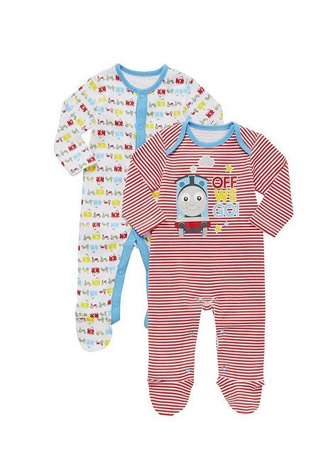 Tesco direct: Thomas & Friends 2 Pack of Sleepsuits
