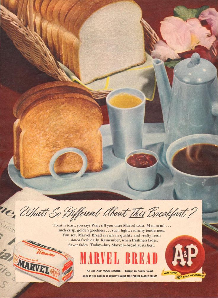 A & P MARVEL BREAD WOMAN'S DAY 01/01/1949 p. 30