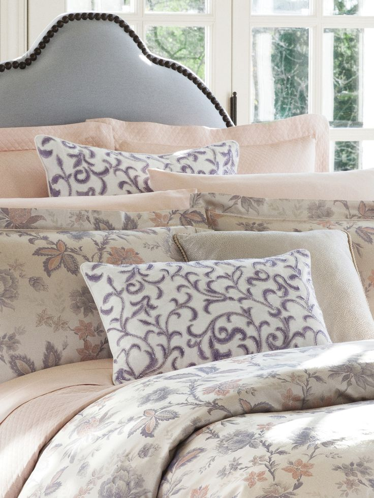 Pretty, feminine embroidery adds a romantic pop of color and style to any room decor.
