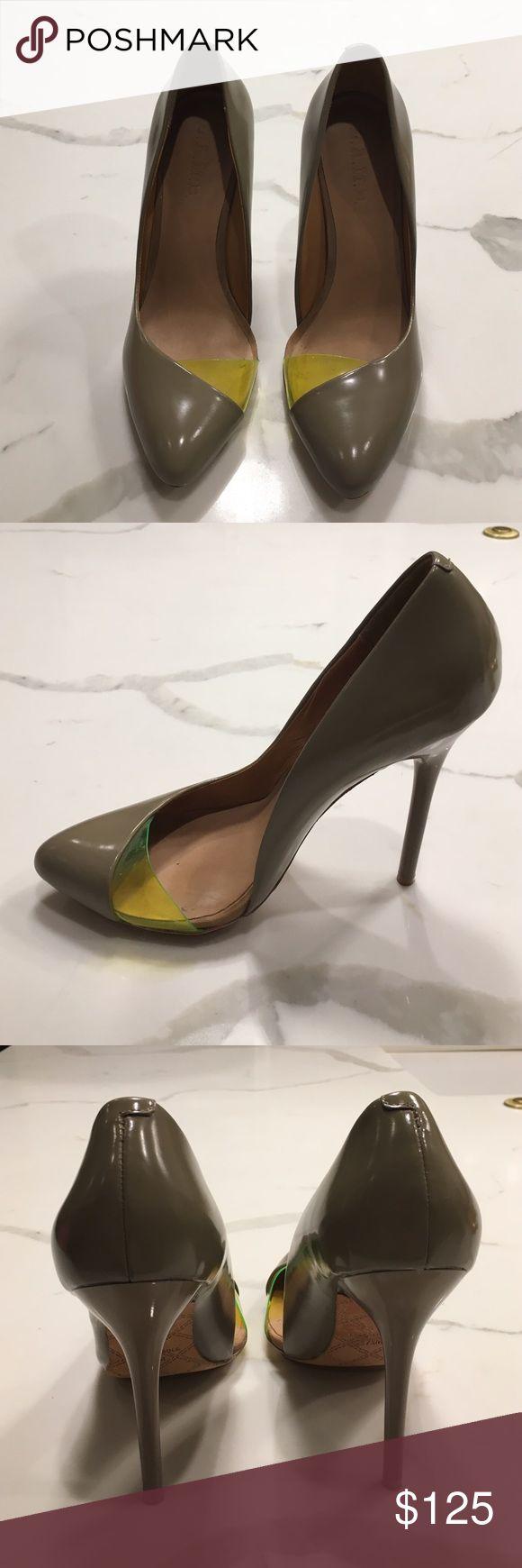 L.A.M.B. Tan/Neon Pump Heel L.A.M.B. Tan/Neon Pump Heel L.A.M.B. Shoes Heels