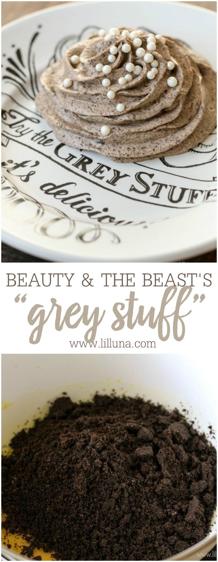 """Beauty and the Beast's """"Grey Stuff"""" recipe! This Oreo dessert is served at Disney World and now you can make it at home!"""