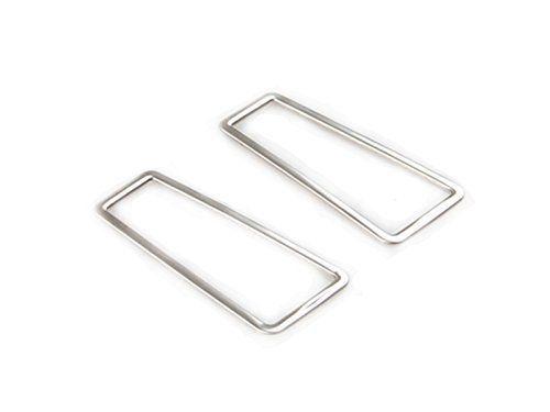 Lot de 2housses bord côté sortie conditon Air grille d'aération en acier inoxydable pour Toyota RAV4201320142015: Exigences usine…