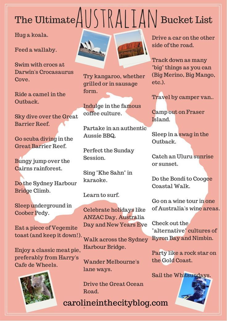 Check out @Caroline Eubanks (Caroline in the City)'s Ultimate Australian Bucket List! Is there anything you think she should add to the list?