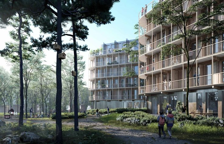 Kjellander Sjöberg - SalaBacke - The intimate public space resembling a glade in the forest