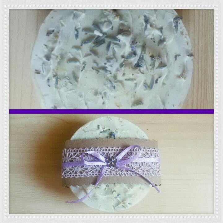 Natural Homemade Lavender Soap.