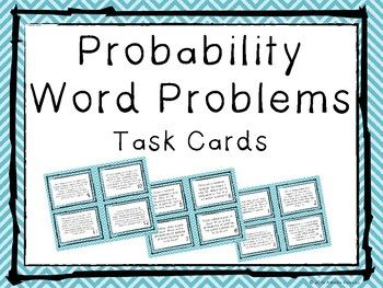 12 task cards of increasing difficulty covering Probability.Answer key included. Student answer sheet included.Blank cards for teacher and/or students to create their own. Use these as independent practice, games, math centers, math workshop, guided math...the possibilities are endless!Visit my store at www.teacherspayteachers.com/Store/Amelia-Reeves for more task cards and activities!