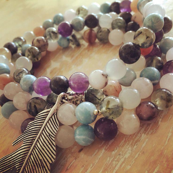Mala - 108 gemstone beads by The Enchanted Owl