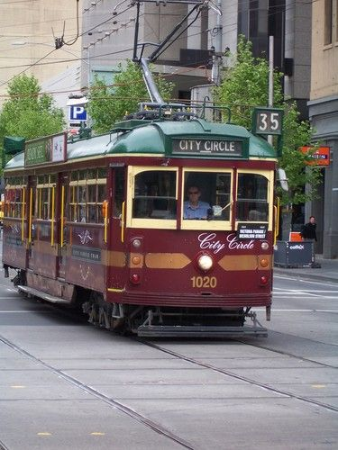 City Circle Tram~Melbourne, Australia.  The City Circle tram is a free service that operates within Melbourne's central business district using heritage W class trams. The service operates in a circular route passing major tourist attractions, as well as linking with other tram, train and bus routes in and around Melbourne.