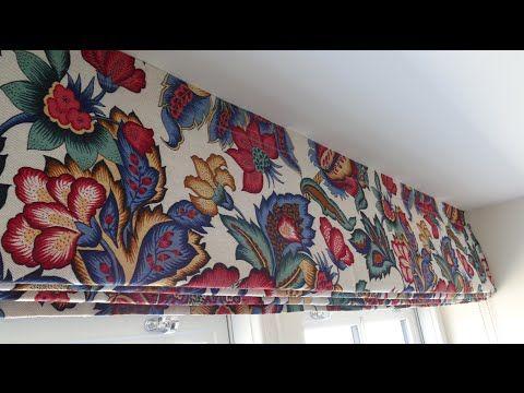 римские шторы пошаговая инструкция - YouTube