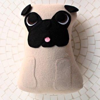 Make your own cute pug plush! Videotutorial