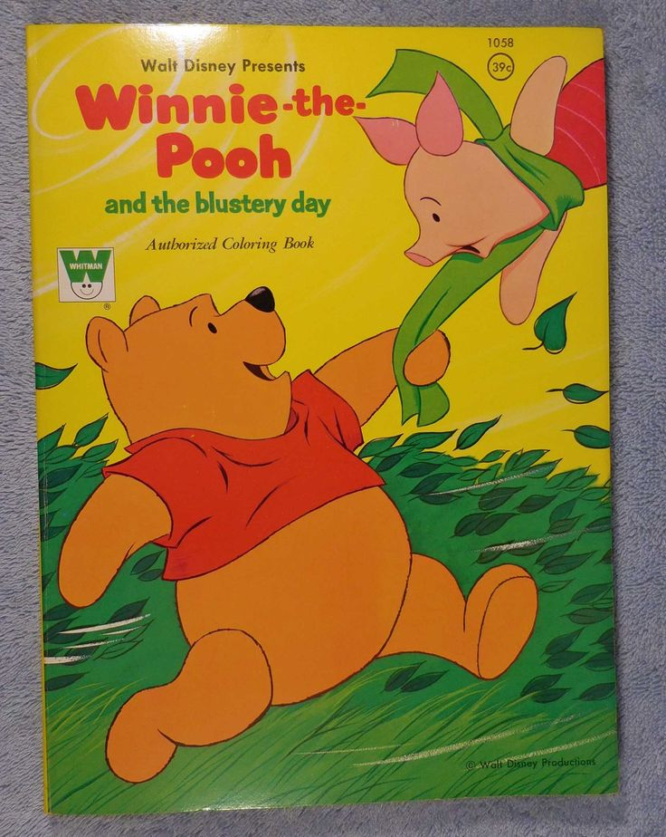 Walt Disney Winnie The Pooh And Blustery Day Coloring Book Whitman Publishing 1965