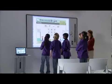 Интерактивная доска в школе. Использование доски SteelCase PolyVision eno. - YouTube