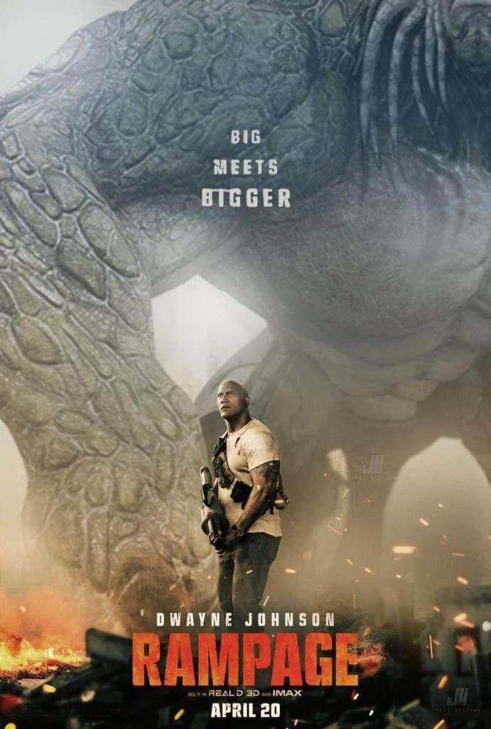 Rampage Destruicao Total Com Dwayne Johnson Ganha Trailer E Cartaz Com Imagens Cartazes De Cinema Cartaz Dwayne Johnson